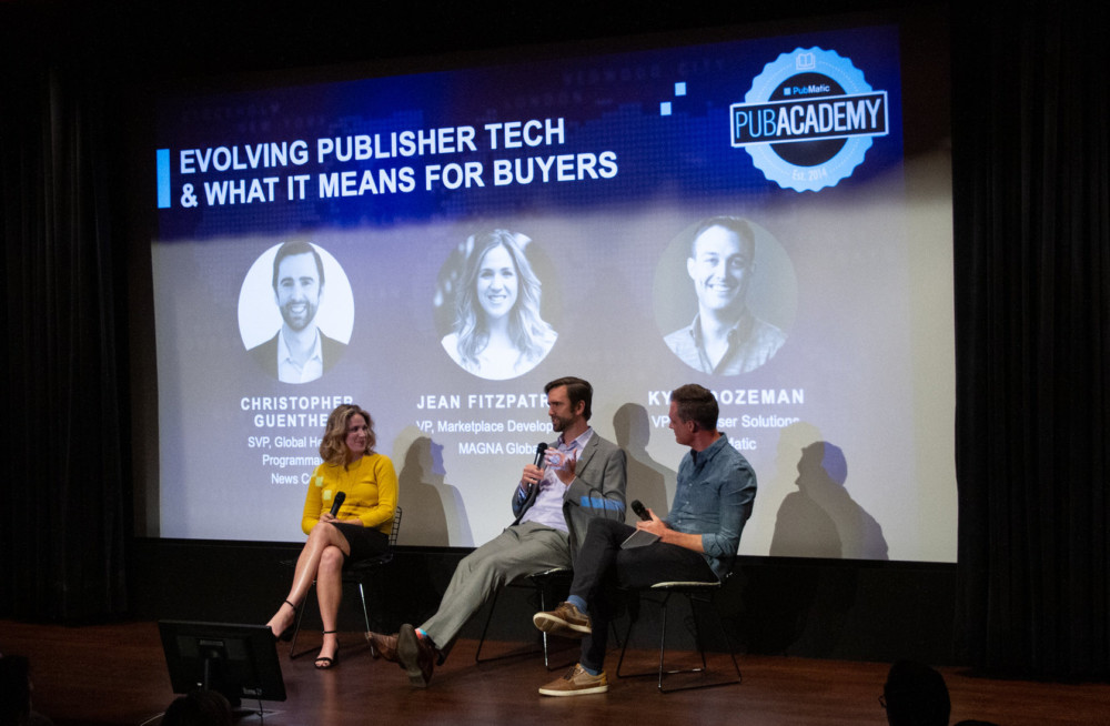Kyle Dozeman, VP, Advertiser Solutions, PubMatic speaks with Jean Fitzpatrick, VP of Marketplace Development, MAGNA Global and Christopher Guenther, SVP, Global Head of Programmatic, News Corp