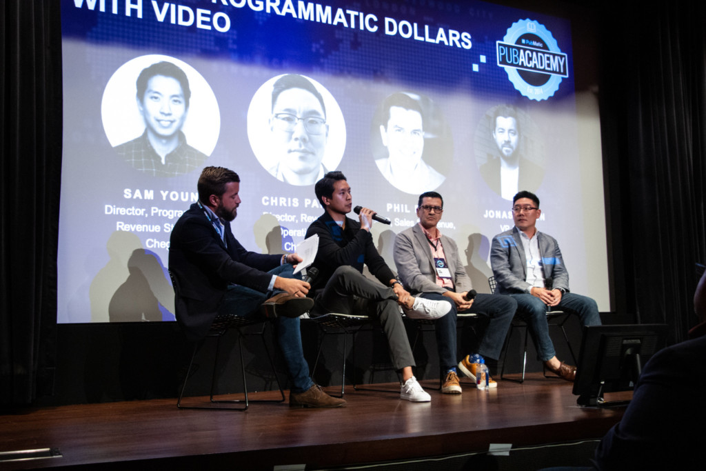 Jonas Olsen, VP, Video, PubMatic moderates a panel on driving programmatic dollars with video with Sam Youn, Director of Programmatic Revenue Strategy, Chegg; Phil Bohn, SVP, Sales and Revenue, Mediavine; Chris Park, Director, Revenue Operations, Cheddar